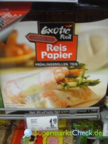 Foto von Exotic Food Reis Papier