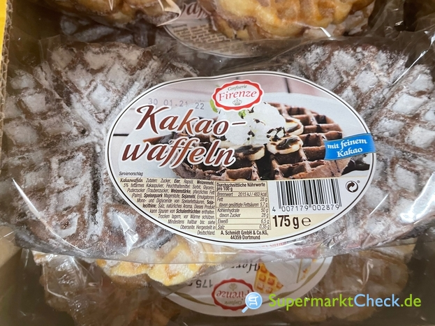 Foto von Confiserie Firenze Kakao Waffeln