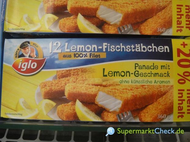 Foto von Iglo Lemon Fischstäbchen 12-er
