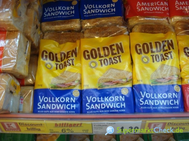 Foto von Golden Toast Vollkorn Sandwich