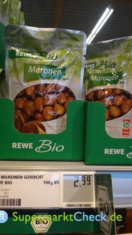 Foto von REWE Bio Maronen gekocht