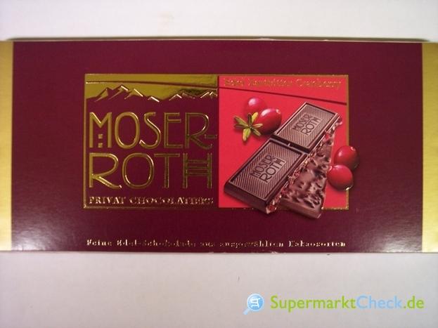 Foto von Moser-Roth Premium-Schokolade Edel Zartbitter Cranberry