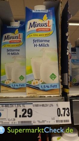 Foto von MinusL fettarme H Milch