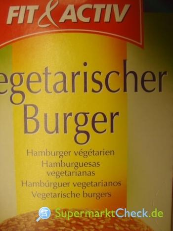 Foto von Fit & Aktiv Vegetarischer Burger