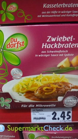 Foto von Du Darfst Zwiebel-Hackbraten
