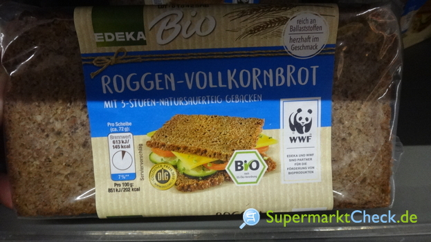 Foto von EDEKA Bio Roggen Vollkornbrot