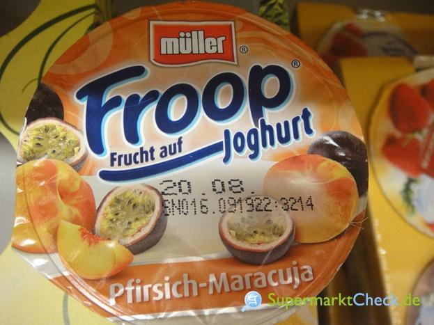 Foto von Müller Froop Frucht auf Joghurt