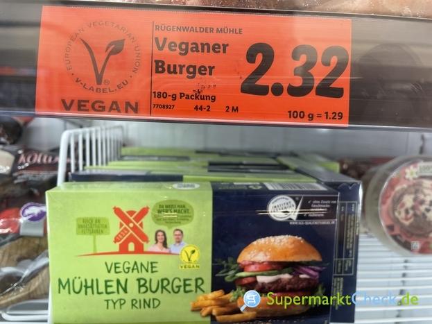 Foto von Rügenwalder Mühler Vegane Mühlen Burger