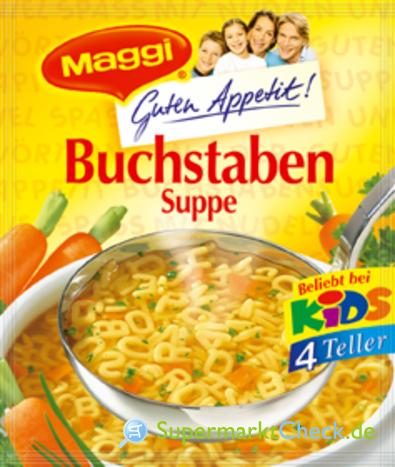 Foto von Maggi Guten Appetit Buchstaben Suppe