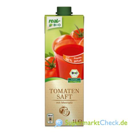 Foto von real bio Tomatensaft