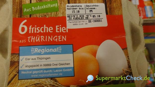 Foto von 6 frische Eier aus Thüringen