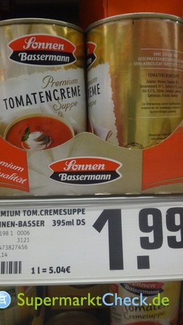 Foto von Sonnen Bassermann Tomaten-Creme-Suppe