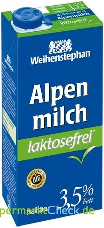 Foto von Weihenstephan Lactosefreie Alpenmilch