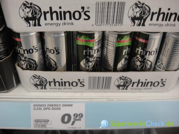 Foto von Rhinos Energy Drink
