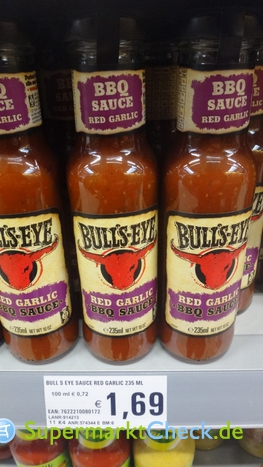 Foto von Bulls Eye Red Garlic BBQ Sauce