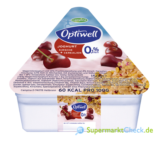 Foto von Optiwell Joghurt mit Cerealien
