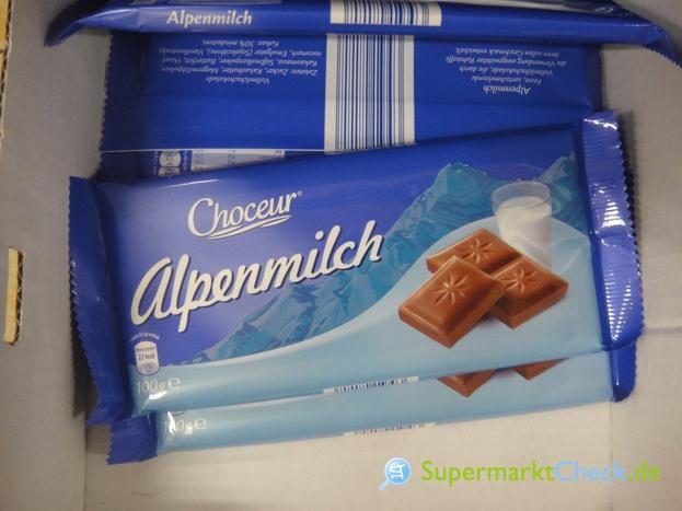 Foto von Choceur Schokolade Alpenmilch