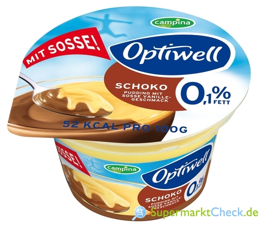 Foto von Optiwell Schoko Pudding