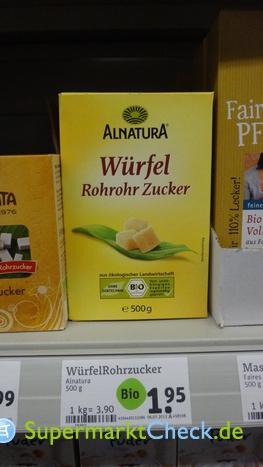 Foto von Alnatura Würfel Rohrohr Zucker