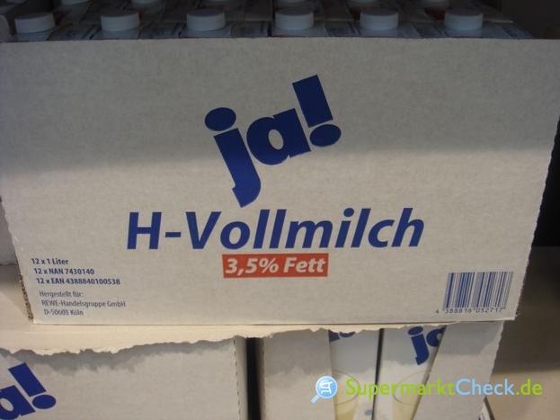 Foto von Ja!  H-Vollmilch