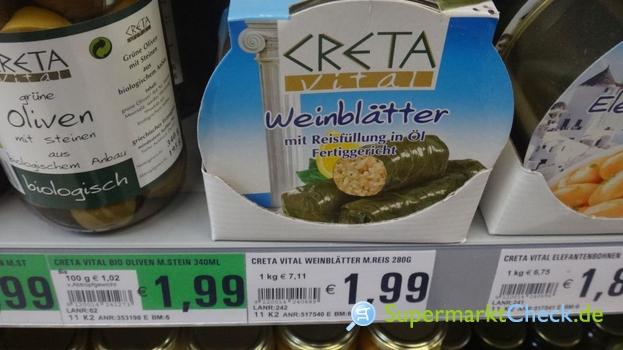 Foto von Creta Vital Weinblätter