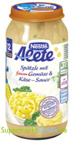 Foto von Alete Spätzle mit feinem Gemüse und Käse-Sauce