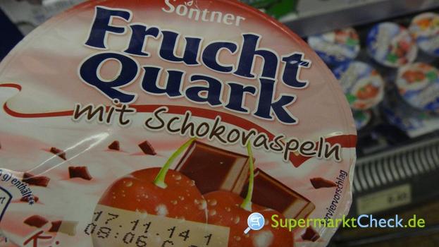 Foto von Sontner Frucht Quark mit Schokoraspeln