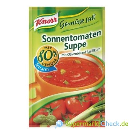 Foto von Knorr Gemüse satt Sonnentomaten Suppe