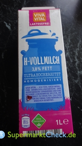 Foto von Viva Vital H laktosefreie H-Vollmilch