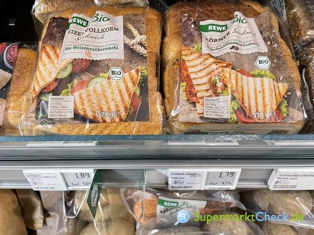 Foto von Rewe Bio Körner Sandwich