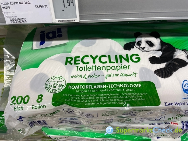 Foto von Ja! Recycling Toilettenpapier
