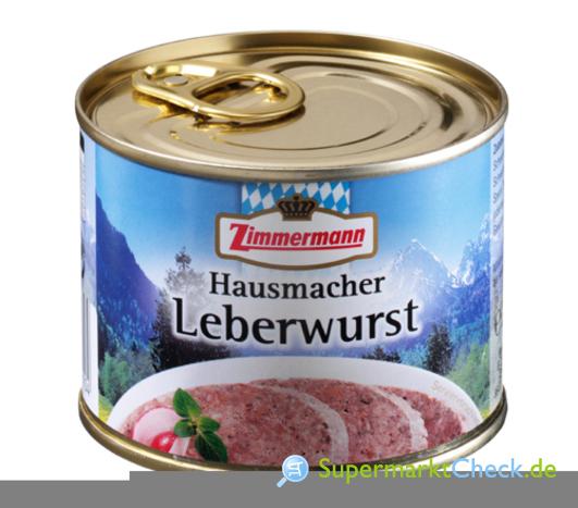 Foto von Zimmermann Hausmacher Leberwurst