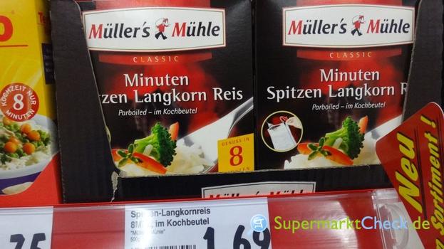 Foto von Müllers Mühle Minuten Spitzen Langkorn Reis
