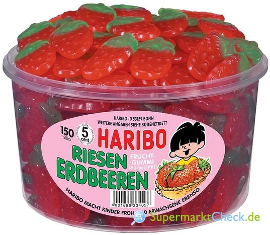 Foto von Haribo Riesen Erdbeeren