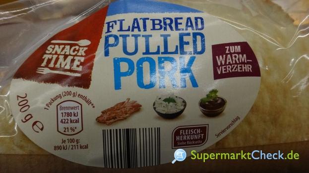 Foto von Snack Time Flatbread Pulled Porked