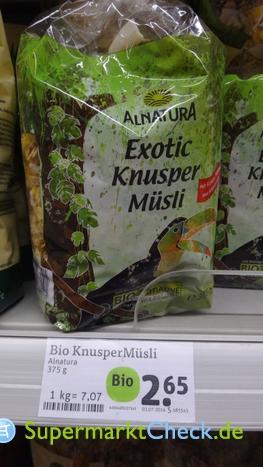 Foto von Alnatura Exotic Knusper Müsli