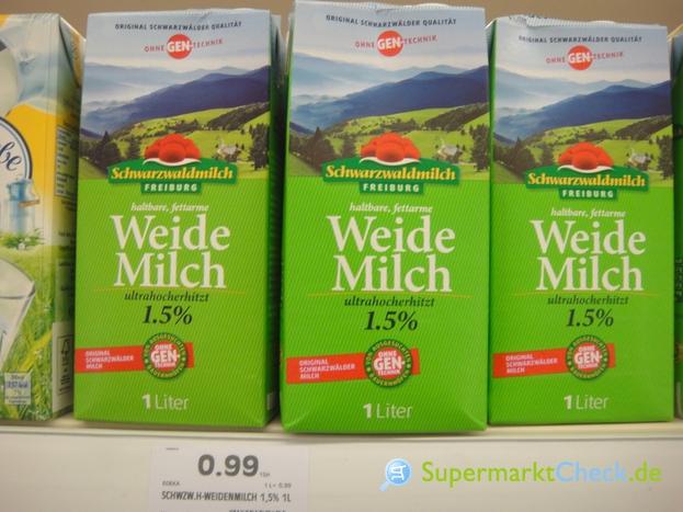 Foto von Schwarzwaldmilch haltbare fettarme Weide Milch