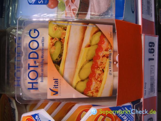 Foto von Vital Convenience Hot Dog mit Brötchen