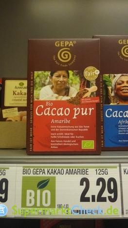 Foto von Gepa Bio Kakao pur Amaribe