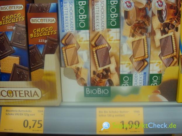 Foto von BioBio Schokoladen-Butterkeks