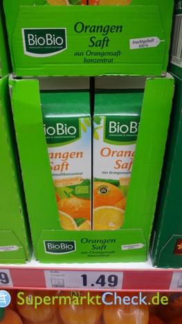 Foto von BioBio Orangensaft