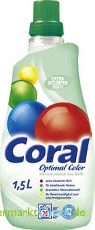 Foto von Coral Optimal Color Feinwaschmittel