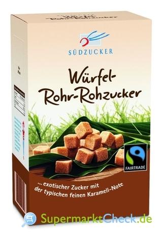 Foto von Südzucker Würfel Rohr Rohzucker
