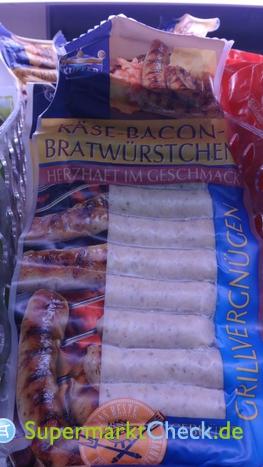 Foto von Kupfer Käse Bacon Bratwürstchen