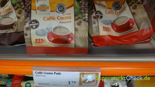 Foto von Globus Caffe Crema Klassisch Pads