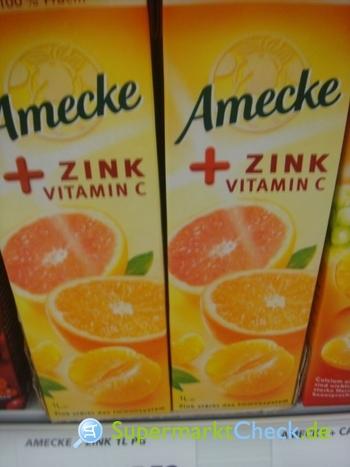 Foto von Amecke + Zink Vitamin C Orangensaft