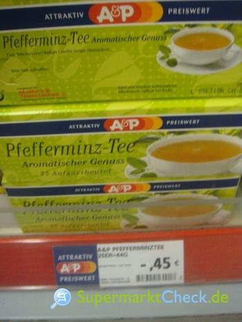 Foto von A&P Pfefferminz Tee