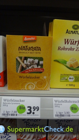 Foto von Naturata Würfelzucker