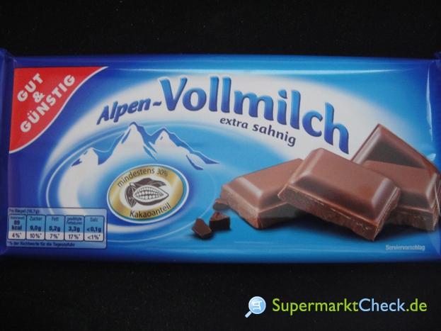 Foto von Gut & günstig Alpen Vollmilch Schokolade