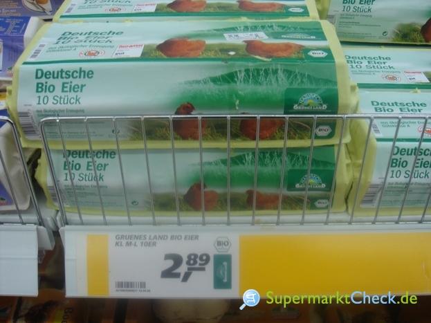 Foto von Grünes Land Bio Eier 10-er Pack
